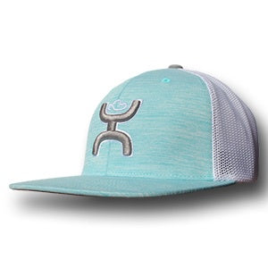 HOOEY BLUE WHTIE LOGO YOUTH CAP