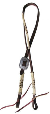 LEATHER ONE EAR RAWHIDE SILVER HEADSTALL