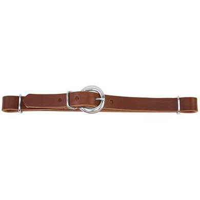 STRAIGHT LEATHER CURB STRAP