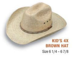 ATWOOD KIDS 4X PALM LEAF BROWN HAT
