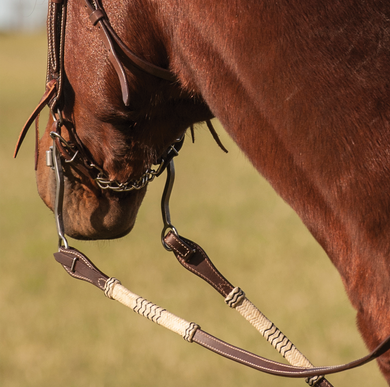 CASHEL QUICK CHANGE RAWHIDE BRAIDED SPLIT REINS