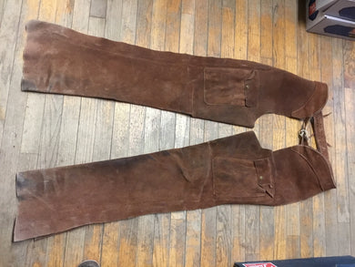 USED SUEDE BORWN MENS TALL CHAPS CT3512-9