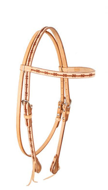 BARBWIRE TOOLED BROWBAND HEADSTALL