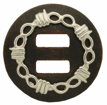 1 IN SLOTTED BARB WIRE CONCHO