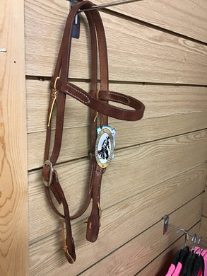 HEAVY HARNESS BROWBAND HEADSTALL