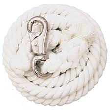WHITE COTTON LEAD ROPE 10FT