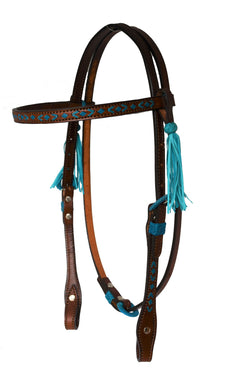 ALAMO TURQ BRAIDED BROWBAND HEADSTALL