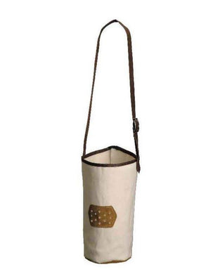 CANVAS NOSEBAG WITH LEATHER BOTTOM