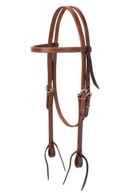 MEDIUM OIL LEATHER BROWBAND HEADSTALL
