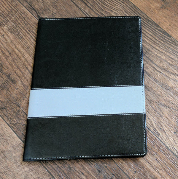 Vegan leather cover grey
