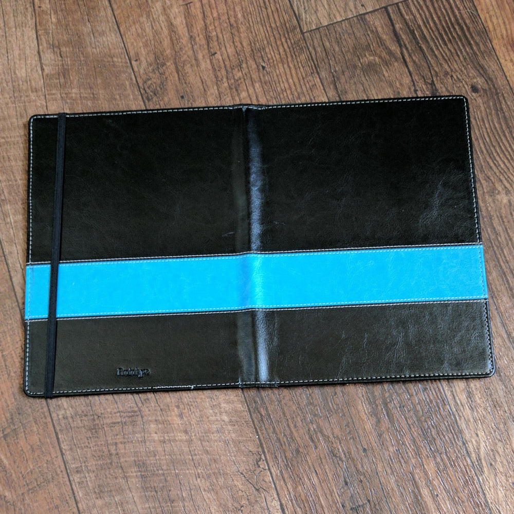Vegan leather cover teal