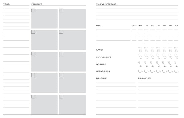 Bulletproof Business Planner  - grey