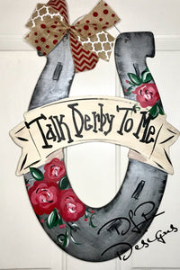 """Talk Derby To Me"" Derby Door Hanger Tutorial"