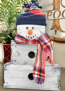 Easy DIY Wooden Snowman for $1