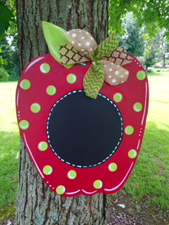 Apple Door Hanger - Unfinished