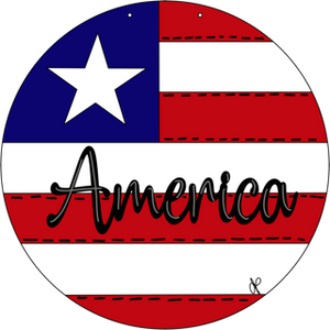 America Farmhouse Rounds Door Hangers - Unfishished