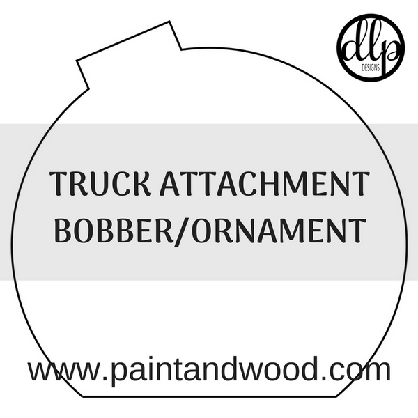 Truck with Optional Attachments Door Hanger - Unfinished