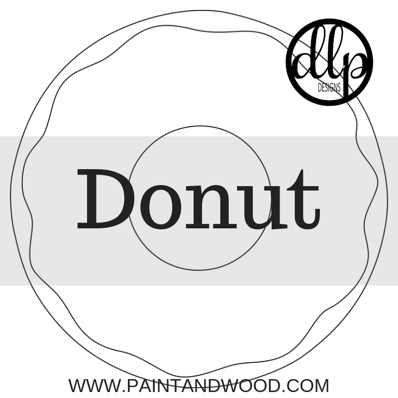 Donut Door Hanger - Unfinished