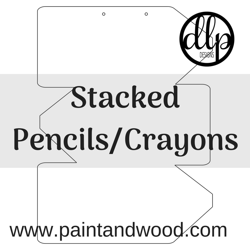 Stacked Pencils/Crayons Door Hanger - Unfinished