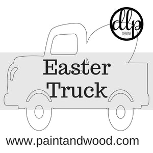 Easter Egg Truck Door Hanger - Unfinished