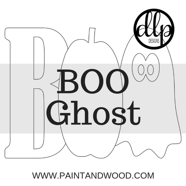 BOO with Ghost Door Hanger - Unfinished