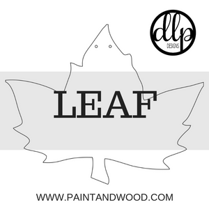 Leaf Door Hanger - Unfinished