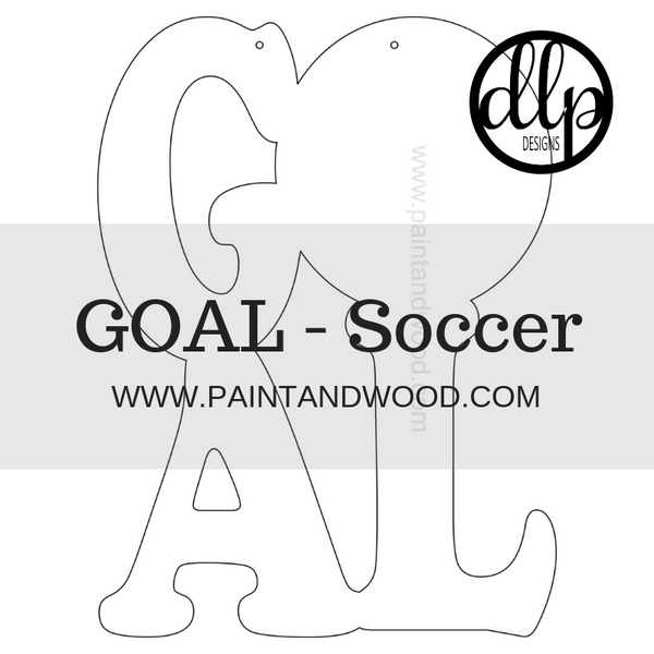 GOAL Soccer Door Hanger - Unfinished
