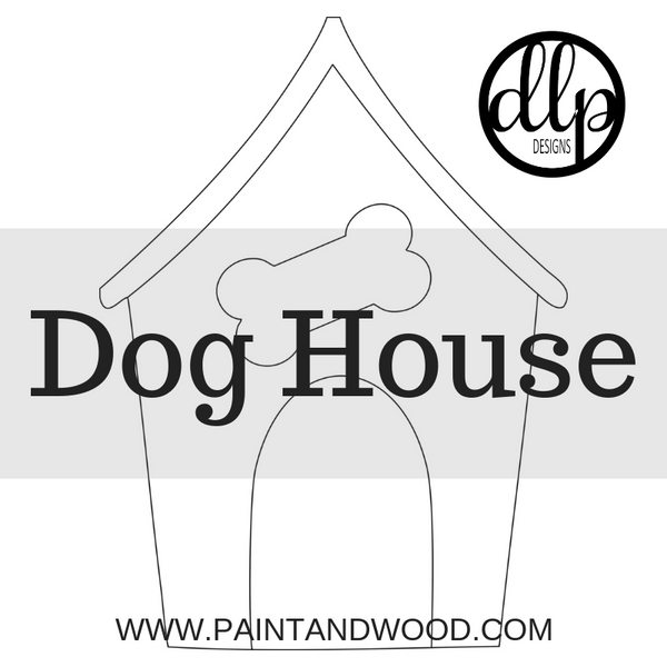 Dog House Door Hanger - Unfinished