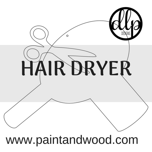 Hair Dryer Door Hanger - Unfinished