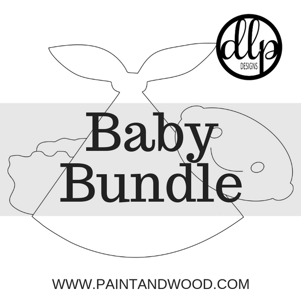 Baby Bundle Door Hanger - Unfinished