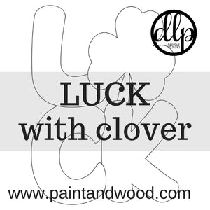 LUCK - Clover Door Hanger - Unfinished