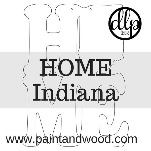 HOME - Indiana Door Hanger - Unfinished