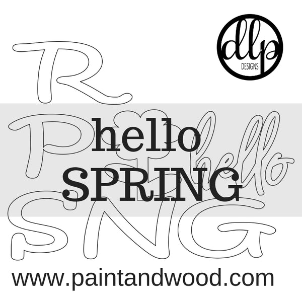 Hello Spring Porch  Sign - Blank Letters - Unfinished