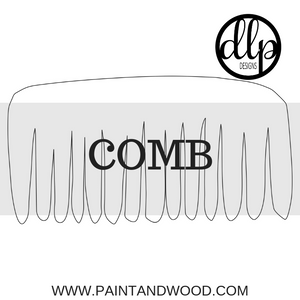 Comb Door Hanger - Unfinished