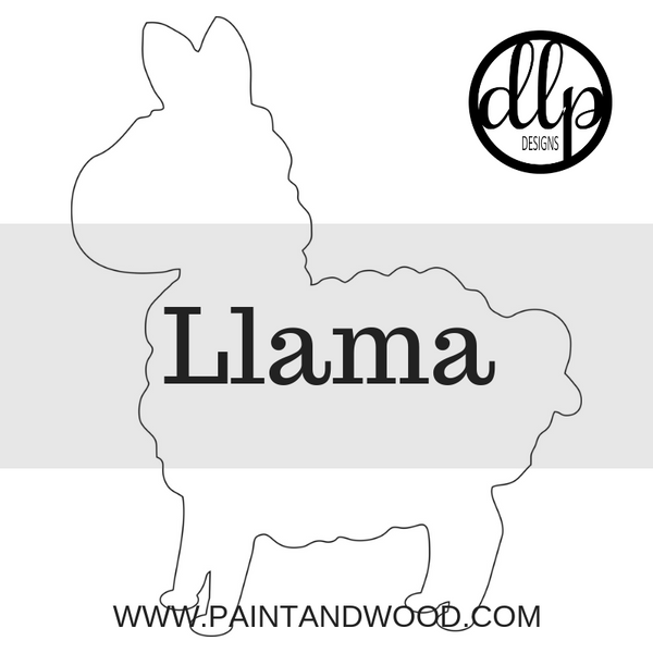 Llama Door Hanger - Unfinished