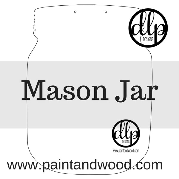 Mason Jar Door Hanger - Unfinished