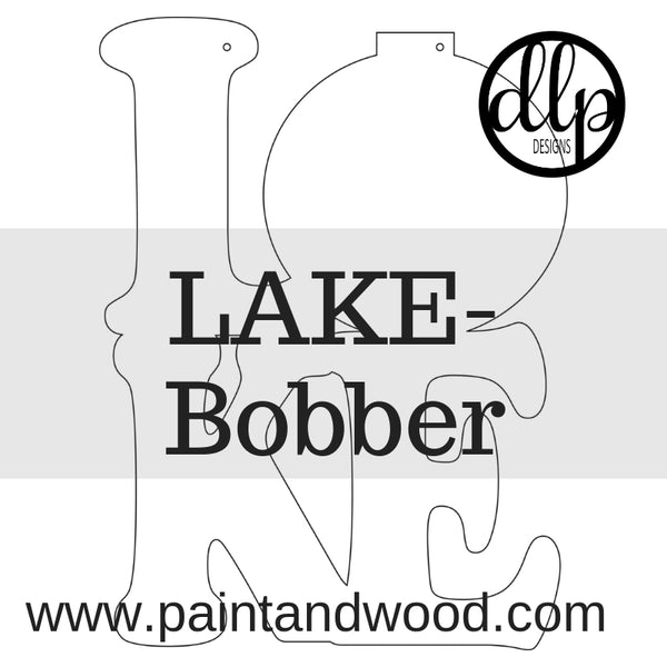 LAKE - Fishing Bobber Door Hanger - Unfinished