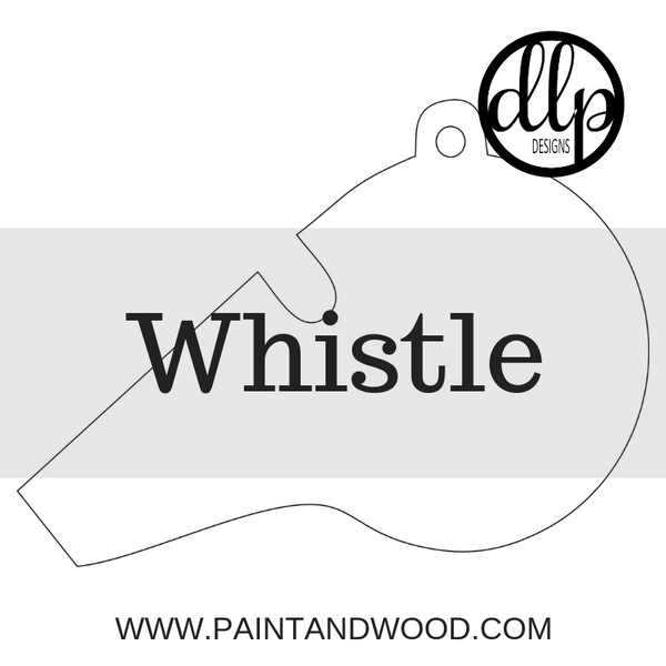 Whistle Door Hanger - Unfinished