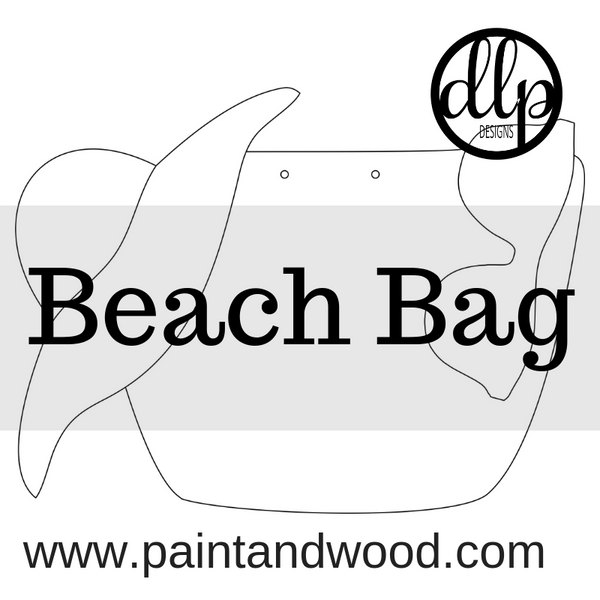 Beach Bag Door Hanger - Unfinished