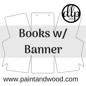 Books With Banner Door Hanger - Unfinished