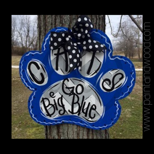Paw Print Door Hanger - Unfinished