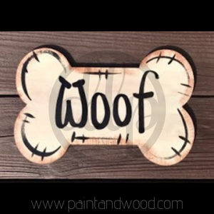 Dog Bone Barn Door Hanger - Unfinished