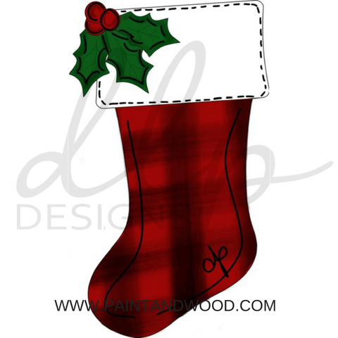 Christmas Stocking Door Hanger