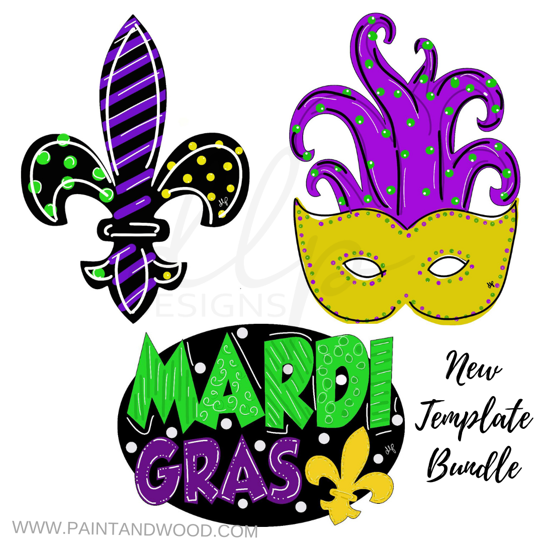 Mardi Gras Printable Template Bundle