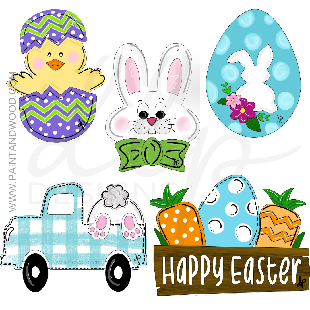 Easter One Printable Template Bundle
