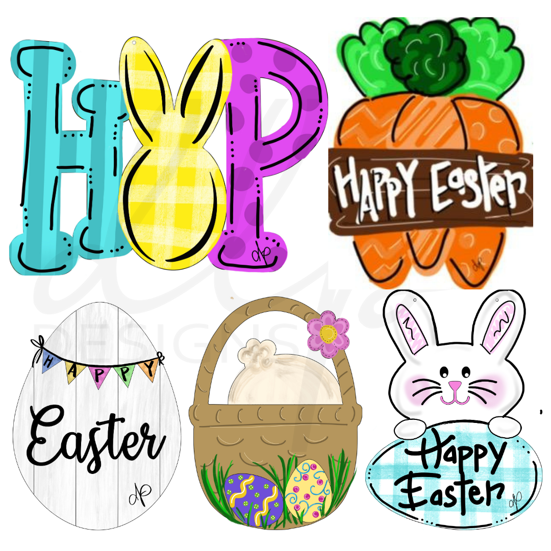 Easter Two Printable Template Bundle