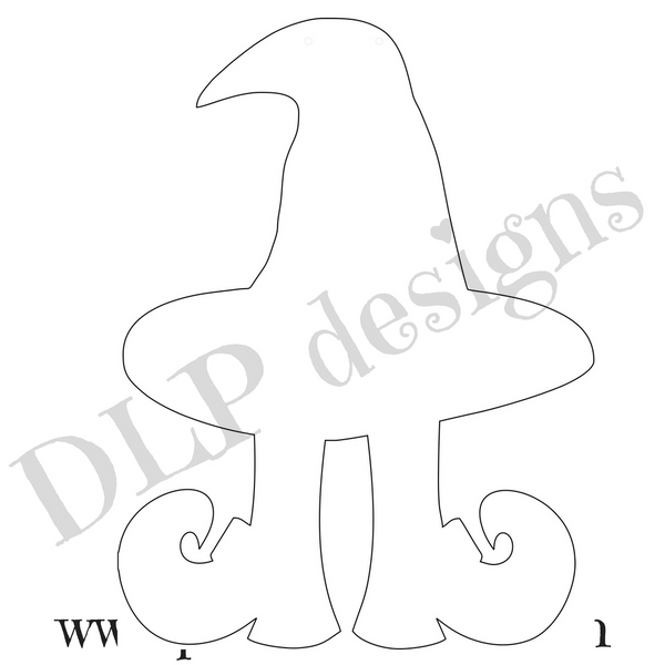 Witch Legs with Hat Door Hanger