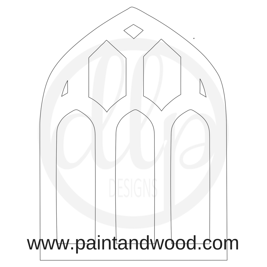 Cathedral Window Door Hanger - Unfinished