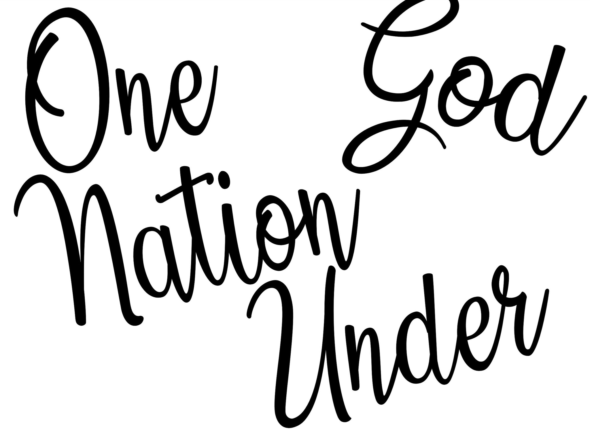 One Nation Under God Lettering