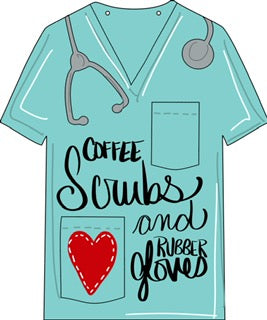 Scrub Top Door Hanger - Unfinished